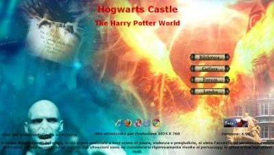 Home page di Hogwarts Castle