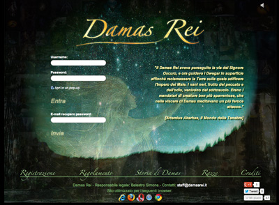 Home page di Damas Rei